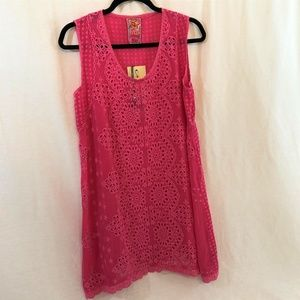 Johnny Was Valley Eyelet Tank Tunic Embroidered